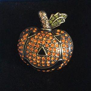Orange Smashing Pumpkin Pin